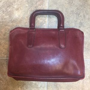 Vintage Classic Coach Wine Leather Satchel